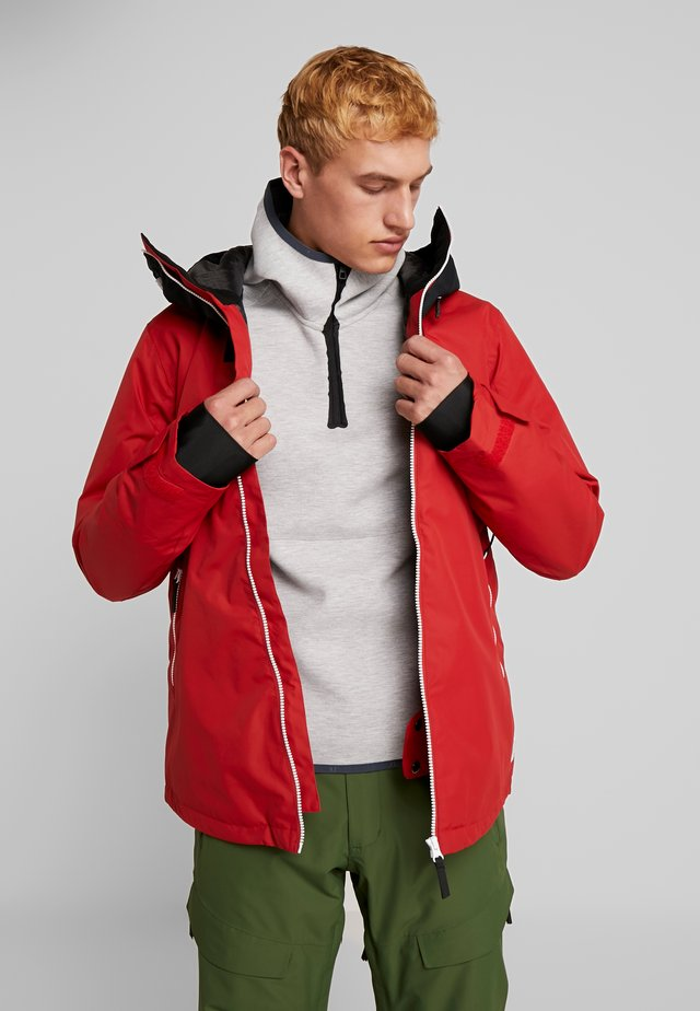 BLOCK JACKET - Snowboard jacket - falu red