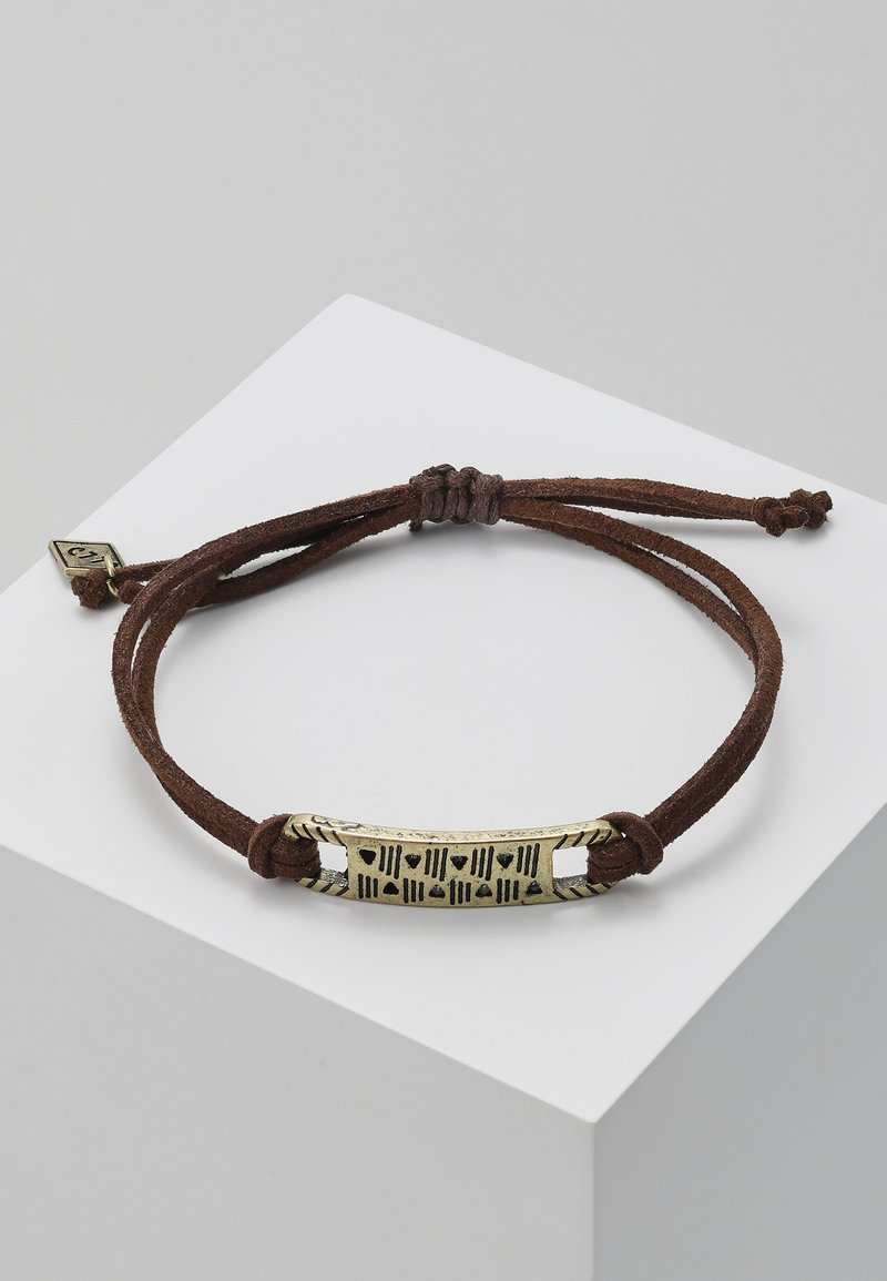Classics77 - DR NAHH BRACELET - Bransoletka - brown/gold-coloured