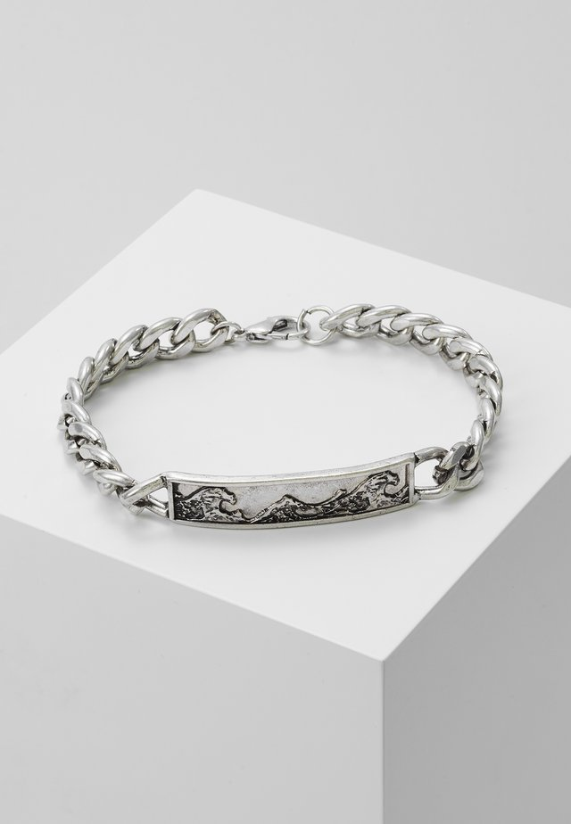 GREAT WAVE CHAIN BRACELET - Armband - silver-coloured