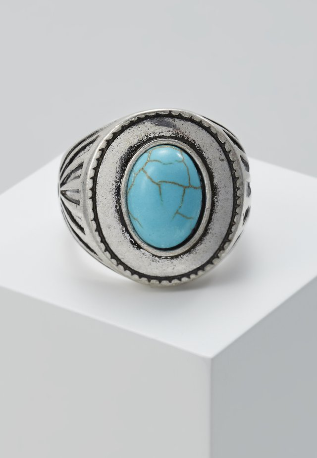 LIME STONE SIGNET - Ring - silver-coloured