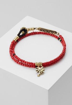BEAD WRAP BRACELET WITH PALM TREE CHARM - Armband - red