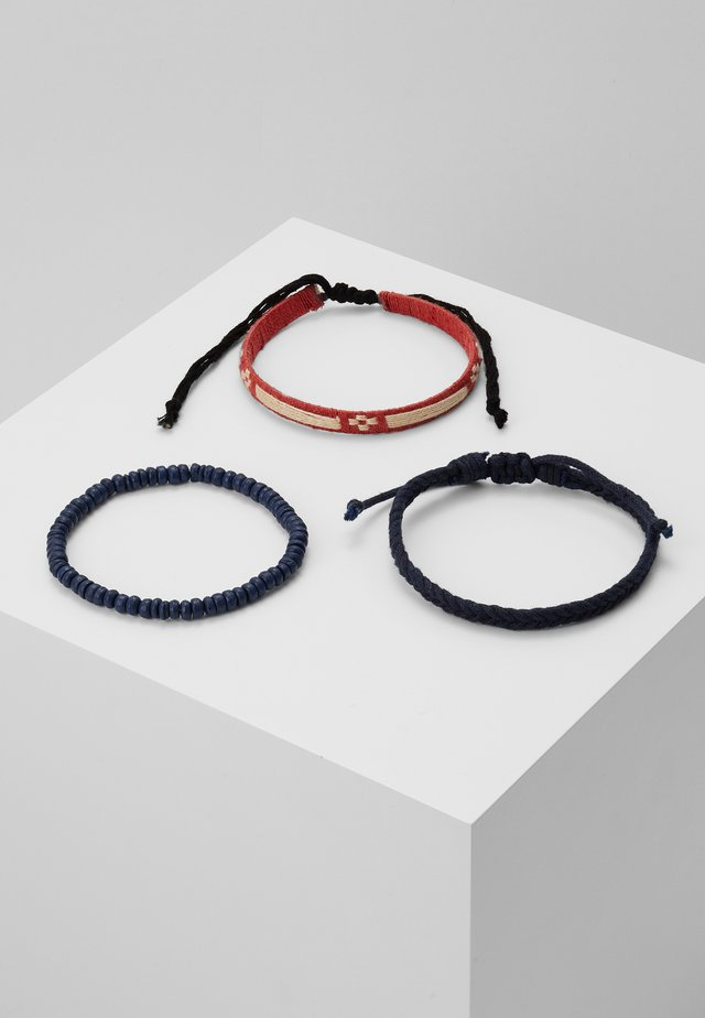 LA SOURCE 3 PACK - Bracelet - red/black