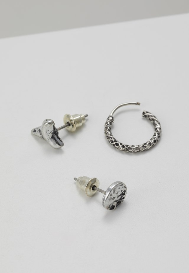 GREAT WHITE EARRING 3 PACK - Ohrringe - silver-coloured