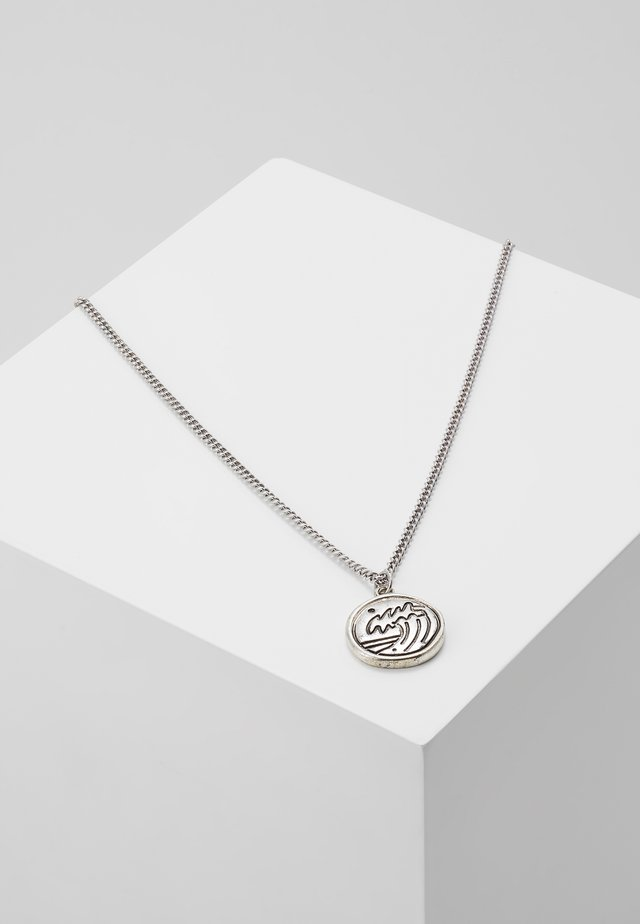 RIPTIDE DISK NECKLACE - Halsband - silver-coloured