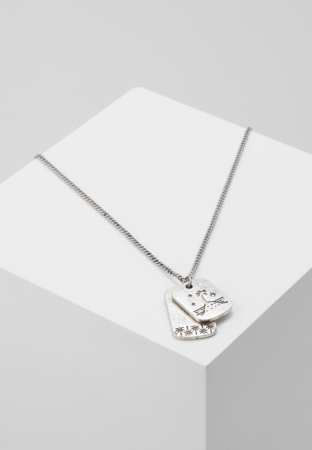 ISLAND LIFE TAG NECKLACE - Necklace - silver-coloured