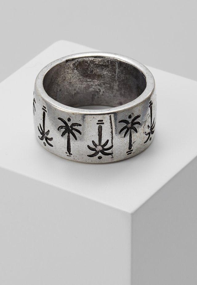 PALM TREE BAND RING - Ring - silver-coloured