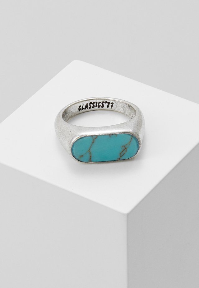 OVAL STONE - Ring - silver-coloured/turquoise