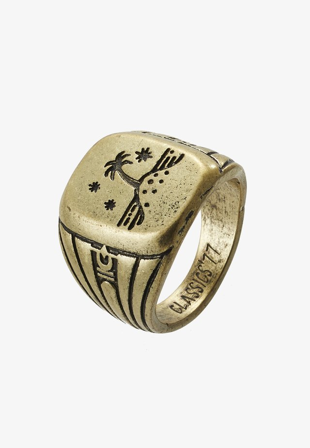 ISLAND TIME SIGNET - Bague - gold-coloured
