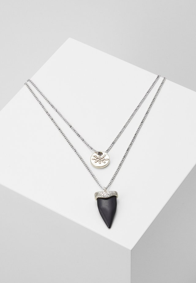 TIBURÓN NECKLACE 2 PACK - Ketting - silver-coloured