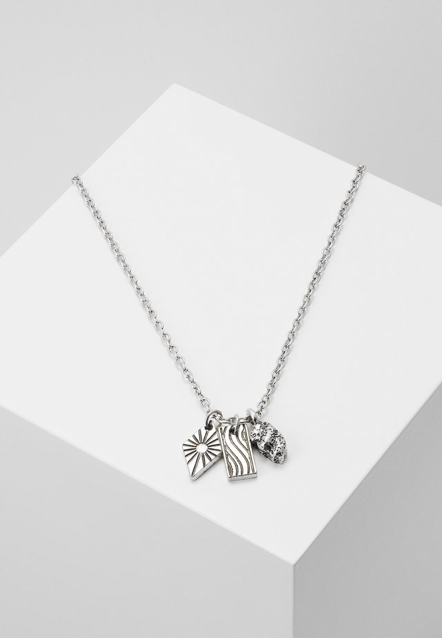 SUNBEAM CLUSTER NECKLACE - Halskette - silver-coloured