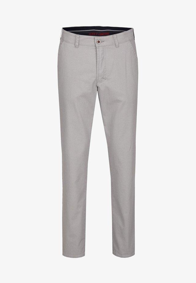GARVEY MIT ELASTISCHEM KOMFORTBUND - Trousers - grey