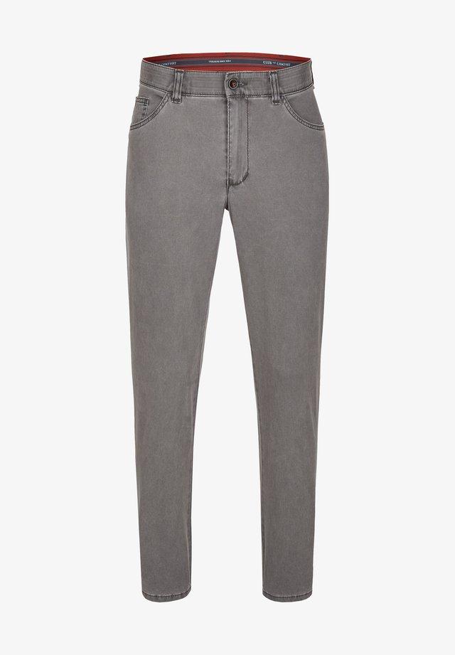 KENO - Straight leg jeans - dunkelgrau (1)