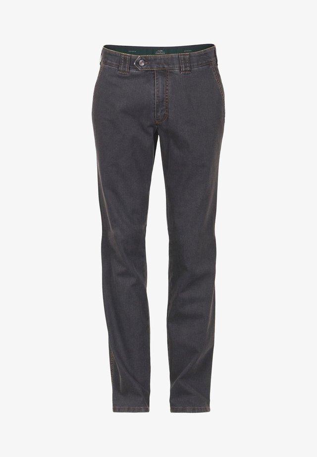 Straight leg jeans - dunkelgrau 1
