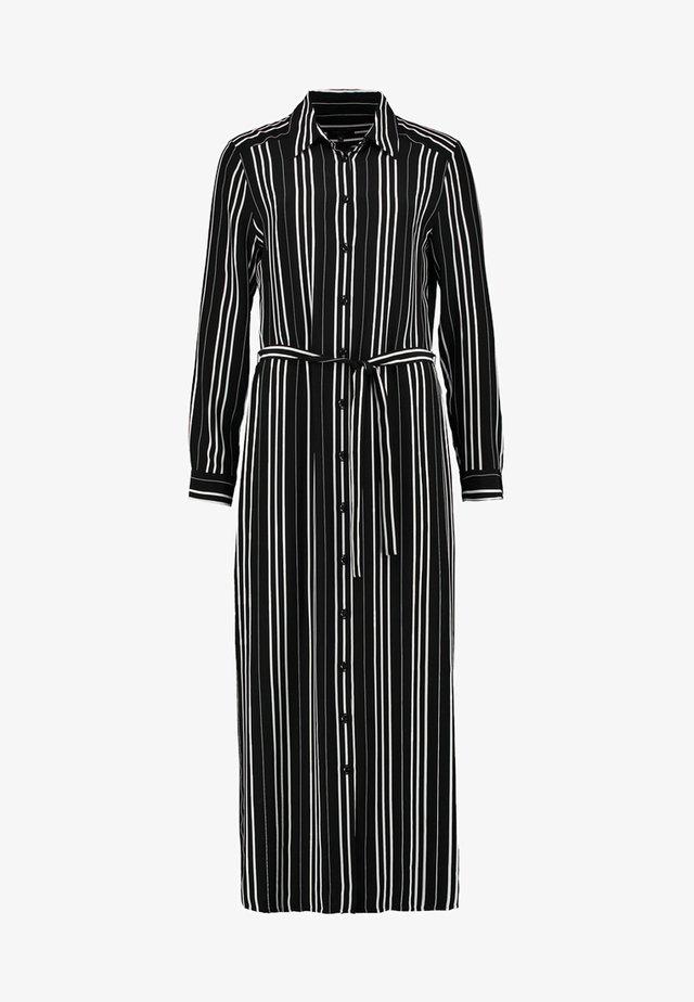 MET STREEPDESSIN - Shirt dress - black