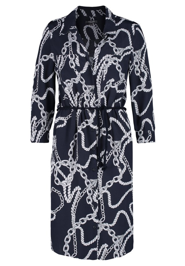 CLAUDIA STRÄTER JURK MET TOUW PRINT - Shirt dress - navy