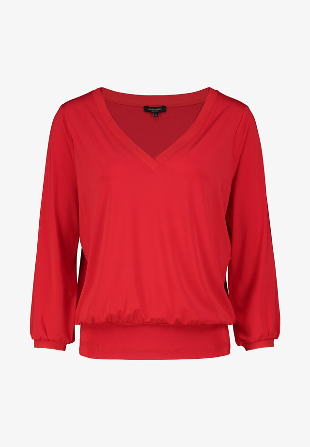 Long sleeved top - signal red