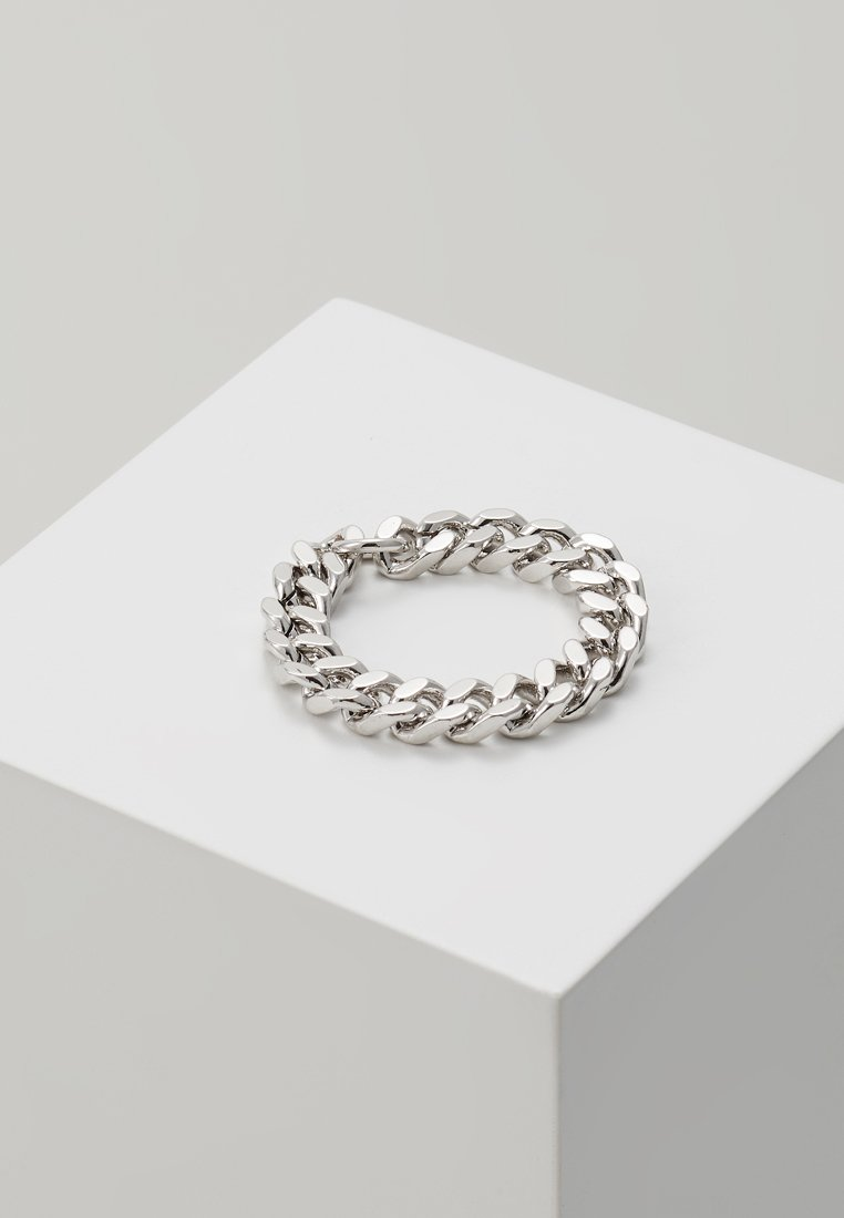 cloverpost - LARGE CURB CHAIN RING - Ring - white gold-coloured