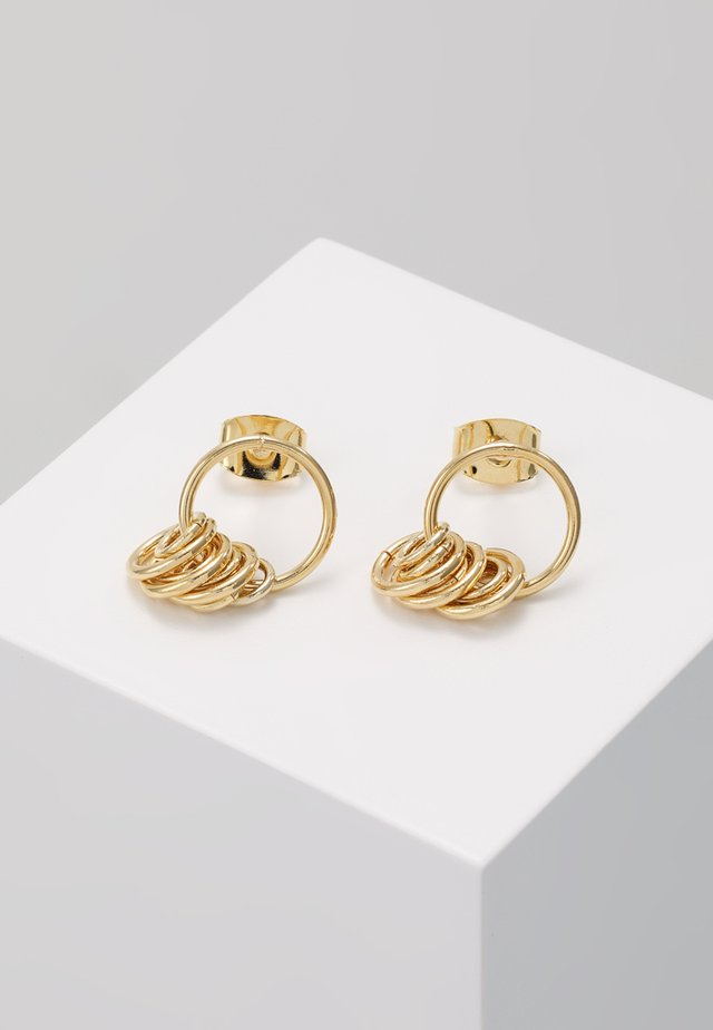 NET EARRINGS - Korvakorut - yellow gold-coloured