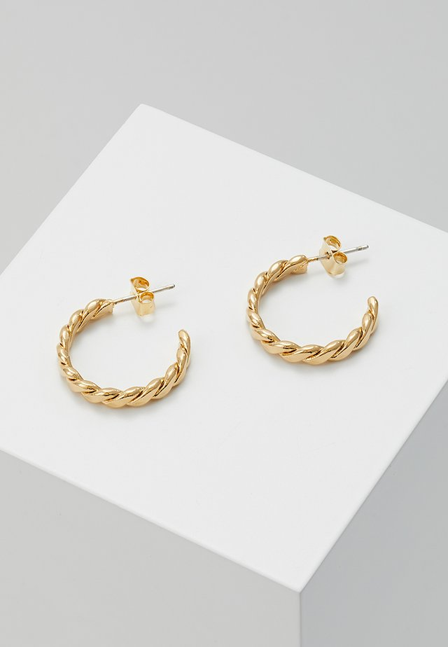 LOAF HOOP EARRINGS - Örhänge - yellow gold-coloured
