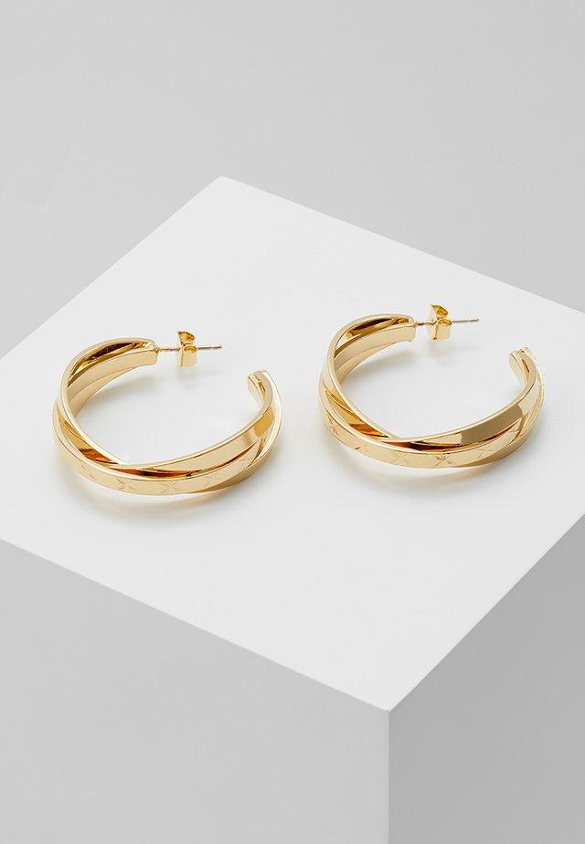 GLARE HOOP EARRINGS - Kolczyki - yellow gold-coloured