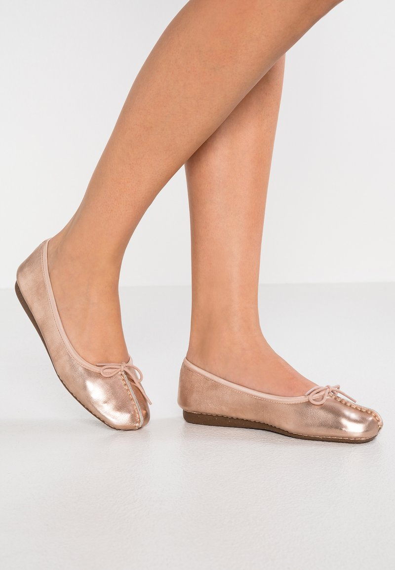 Clarks Unstructured - FRECKLE ICE - Ballerinasko - rose gold