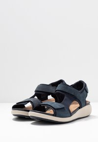 Clarks Unstructured - UN BALI TREK - Wedge sandals - navy - 4