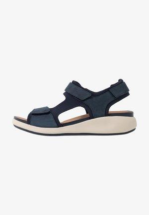 UN BALI TREK - Sandalen met sleehak - navy
