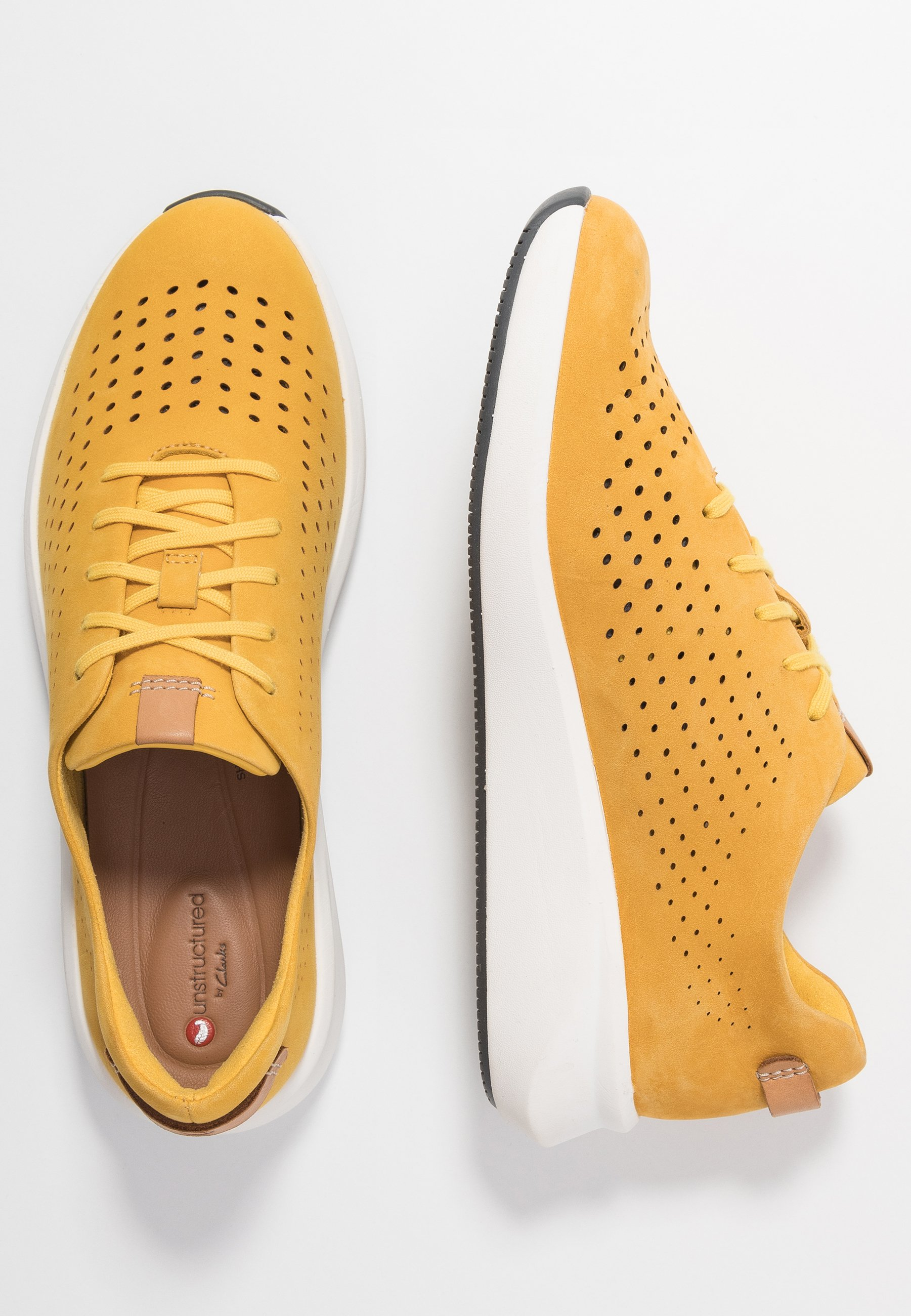 Clarks Unstructured RIO TIE - Sneakers - yellow