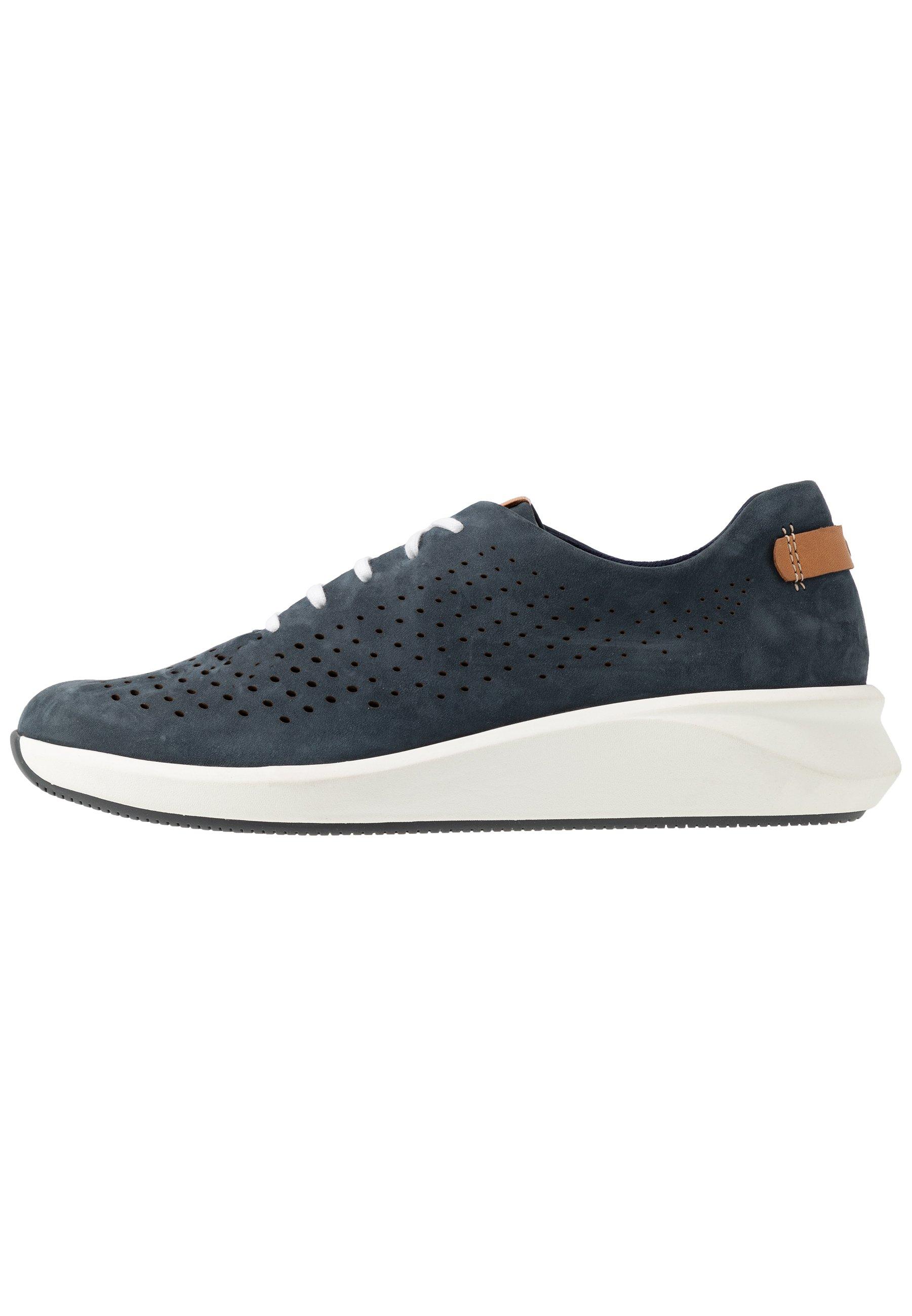 Clarks Unstructured RIO TIE - Sneakers - navy