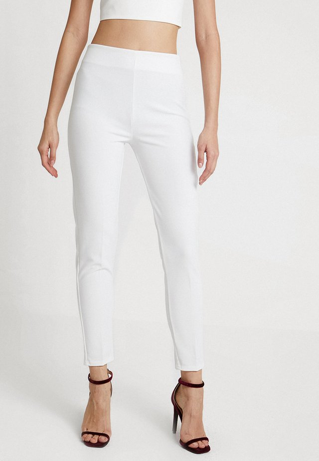 GIRL BOSS TROUSERS - Legíny - white