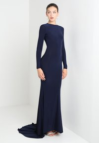 Club L London - OPEN BACK FISHTAIL DRESS - Iltapuku - navy - 2