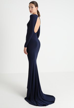OPEN BACK FISHTAIL DRESS - Galajurk - navy