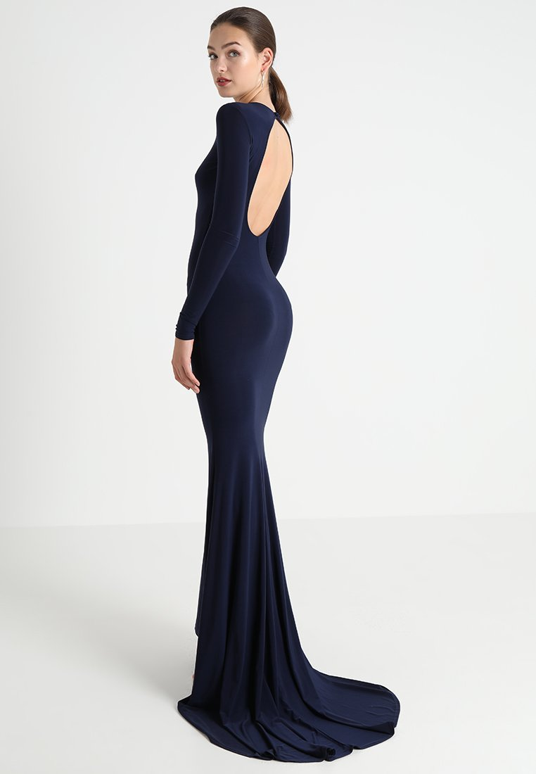 Club L London - OPEN BACK FISHTAIL DRESS - Společenské šaty - navy