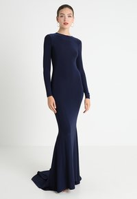 Club L London - OPEN BACK FISHTAIL DRESS - Iltapuku - navy - 3