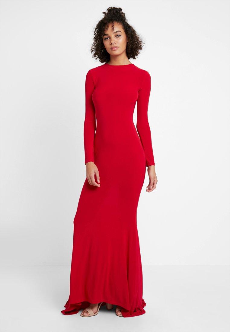 Club L London - LONG SLEEVE FISH TAIL DRESS - Maxi dress - red