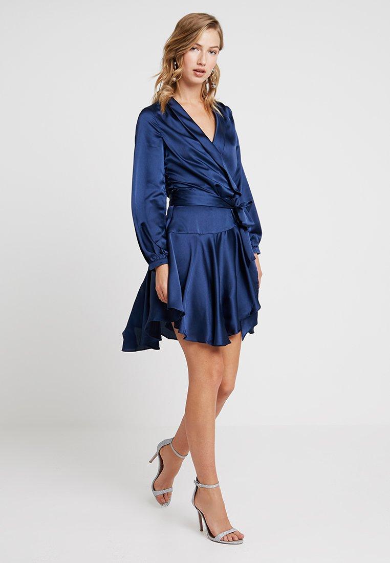 Club L London - WRAP DRESS - Vestido de cóctel - navy