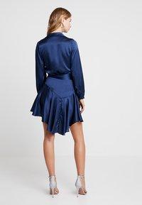 Club L London - WRAP DRESS - Vestido de cóctel - navy - 2