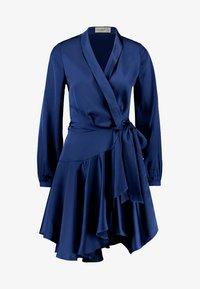 Club L London - WRAP DRESS - Vestido de cóctel - navy - 4