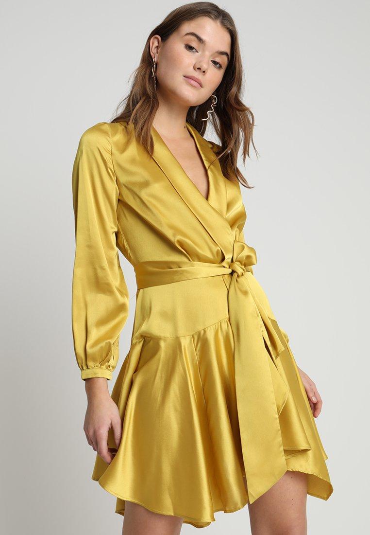 Club L London - WRAP DRESS - Robe de soirée - chartruese