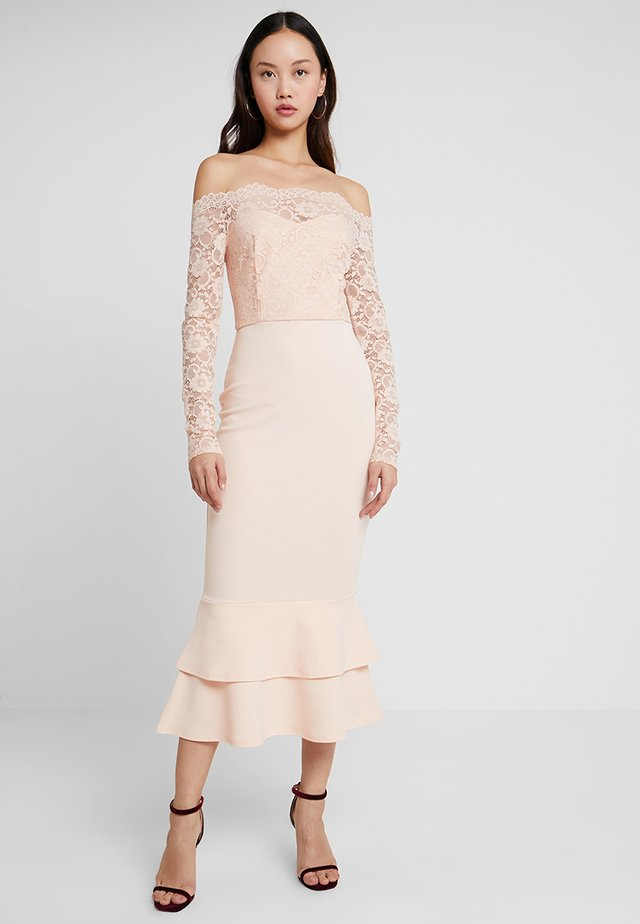 BARDOT DRESS - Ballkjole - nude