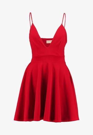 CAMI FIT FLARE SKATER DRESS - Juhlamekko - red