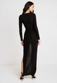 Club L London - SLINKY KNOT ASSYMETRIC DRESS - Maxi dress - black - 2