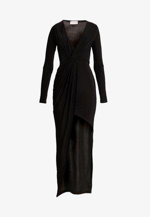 SLINKY KNOT ASSYMETRIC DRESS - Maxi šaty - black