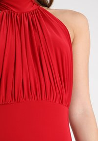 Club L London - HALTER NECK RUCHED DETAIL FISHTAIL MAXI DRESS - Galajurk - red - 5