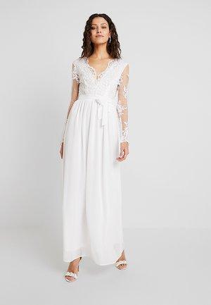 APPLIQUE SEQUIN DRESS - Společenské šaty - white
