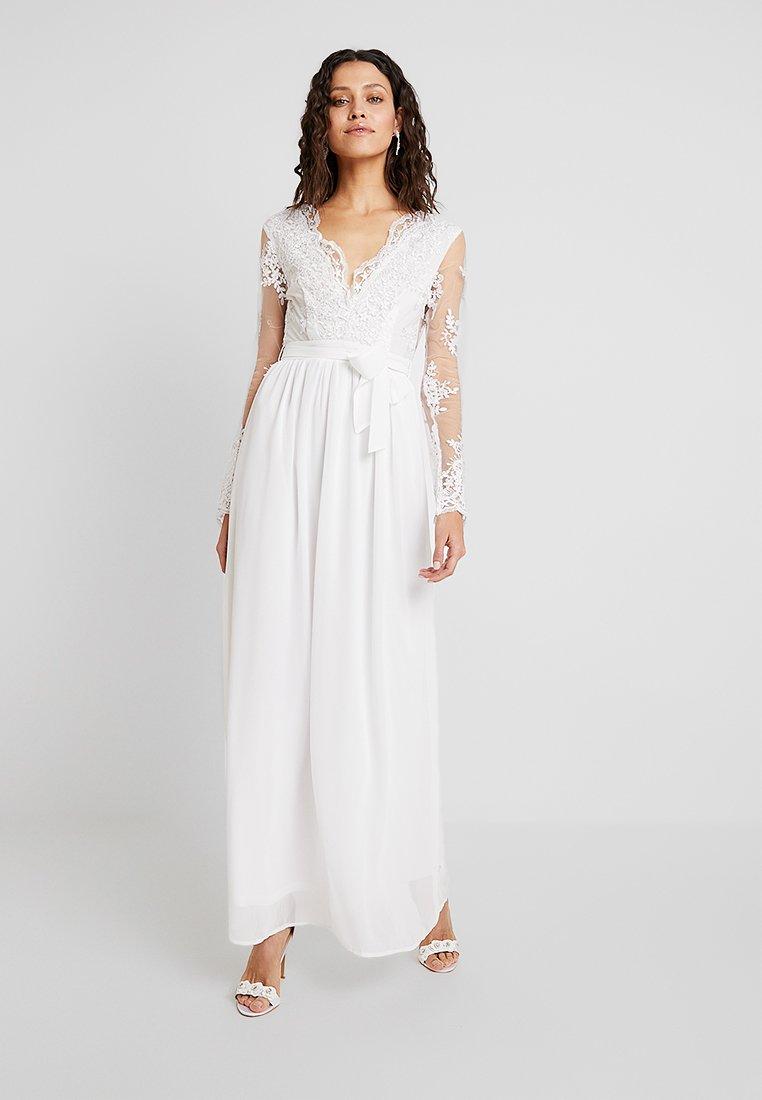 Club L London - APPLIQUE SEQUIN DRESS - Vestido de fiesta - white