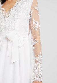 Club L London - APPLIQUE SEQUIN DRESS - Robe de cocktail - white - 6
