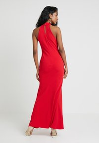 Club L London - HIGH NECK DRESS - Długa sukienka - red - 2