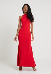 Club L London - HIGH NECK DRESS - Długa sukienka - red - 1