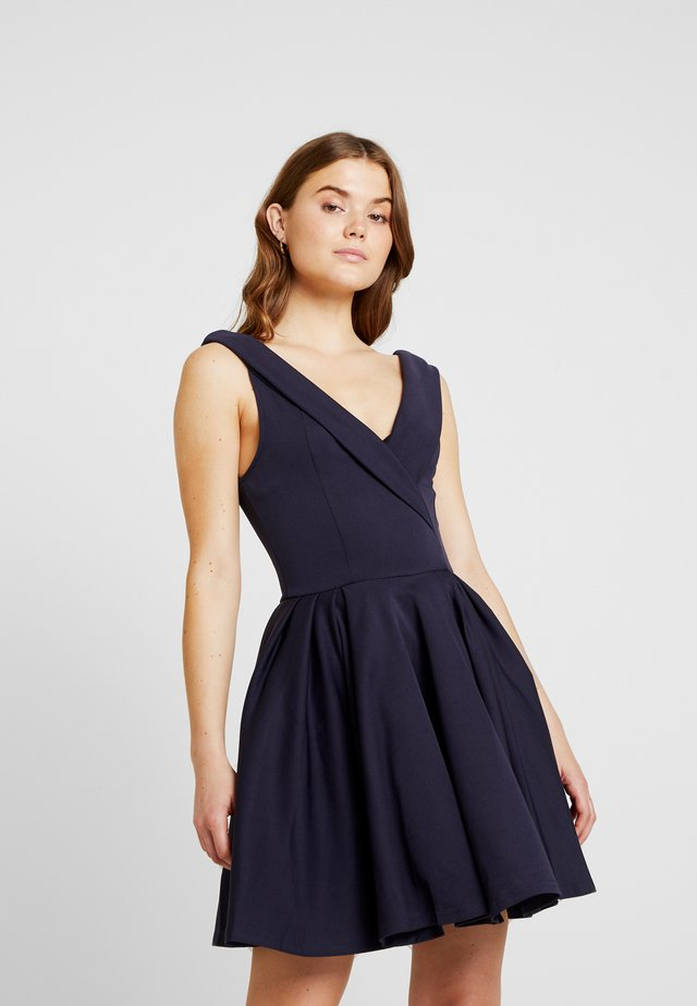 BRIDESMAID MODERN BARDOT FIT FLARE SKATER DRESS - Vestido ligero - navy